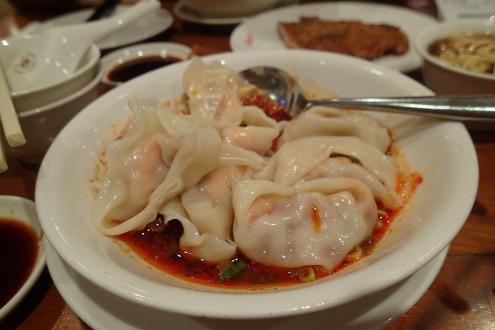 Dumplings in Chili Oil